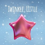 Twinkle Little Star on Night Sky Background. Vector illustration. EPS10 Royalty Free Stock Photos