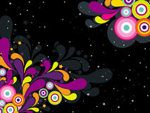 Twinkle star background with colorful artwork Royalty Free Stock Images