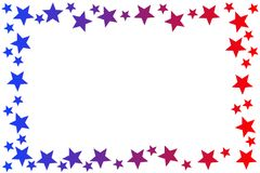 Patriotic stars frame border stock illustration
