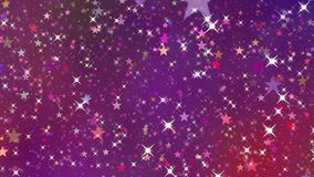 Twinkle stars loop. Abstract seamlessly looping animated background stock video footage
