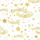Twinkle stars seamless pattern Royalty Free Stock Images