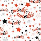 Twinkle stars seamless pattern Stock Image