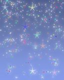 Twinkle Twinkle. Sky Blue Background Paper with Twinkle Stars Stock Photos
