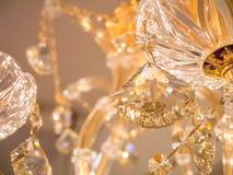 Twinkle, twinkle, crystal chandelier. In room stock photography