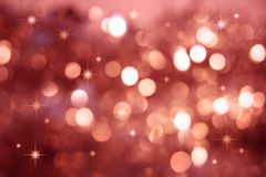 Twinkle, twinkle little stars. Abstract background of holiday lights royalty free stock image
