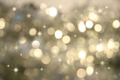 Twinkle, twinkle little stars/Silver. Abstract background of holiday lights stock images