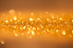 Twinkled background - christmas golden Royalty Free Stock Photography