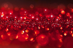 Twinkled red background - christmas Stock Photos