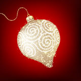 Twinkling gold bauble. EPS 10 Royalty Free Stock Photo