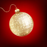Twinkling gold bauble. EPS 10 Royalty Free Stock Image