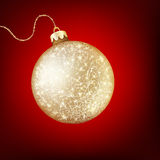 Twinkling gold bauble. EPS 10 Stock Photos