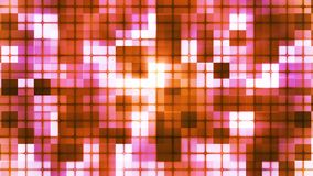 Twinkling Hi-Tech Cubic Squared Light Patterns, Orange, Abstract, Loopable, 4K stock video