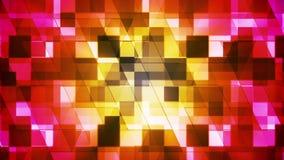Twinkling Hi-Tech Squared Diamond Light Patterns 07 stock video