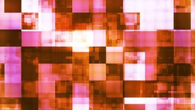Twinkling Hi-Tech Squared Light Patterns, Orange, Abstract, Loopable, 4K stock video