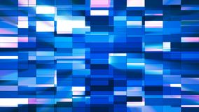 Twinkling Horizontal Small Squared Hi-Tech Bars, Blue, Abstract, Loopable, 4K. Thank you for choosing this Background stock footage