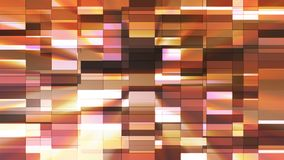 Twinkling Horizontal Small Squared Hi-Tech Bars, Brown, Abstract, Loopable, 4K stock video footage