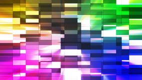 Twinkling Horizontal Small Squared Hi-Tech Bars, Multi Color, Abstract, Loopable, 4K stock video footage