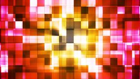 Twinkling Metal Hi-Tech Squared Light Patterns, Multi Color, Abstract, Loopable, 4K stock video