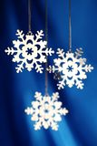 Twinkling Snowflakes Stock Images