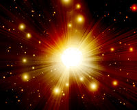 Twinkling stars. In outer space Stock Photography