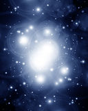 Twinkling stars. On a dark background Stock Image