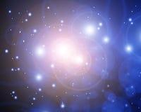 Twinkling stars. On a dark sky Royalty Free Stock Photos