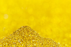 Twinkly golden L Royalty Free Stock Image