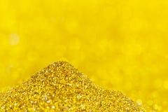 Twinkly gouden L Royalty-vrije Stock Afbeelding