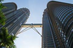 Twins. The Petronas Towers in Kuala Lumpur Stock Photo