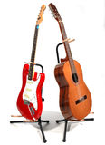 Twins. Guitars Royalty Free Stock Photos