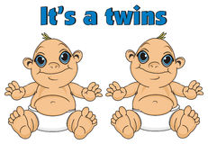 Twins of babes boys Royalty Free Stock Photo