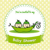 Twins baby shower Stock Photo
