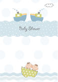 Twins baby shower invitation Stock Photo