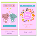 Twins Baby shower Royalty Free Stock Photos
