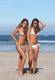 Twins in the beach Stock Photography