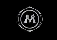 Silver logo company brand vector Stock Photos