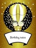 Twins birthday vector Stock Photography