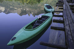 Twins boat of raft Royalty Free Stock Photo