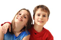 Twins (brother and sister) portrait Stock Photos