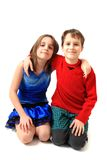Twins (brother and sister) portrait Royalty Free Stock Photo