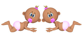 Twins 3d Stock Photography