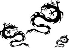 Twins dragons. Vector illustration Stock Image