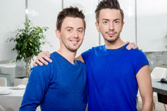 Twins friendship Royalty Free Stock Photography