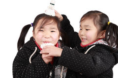 Twins girls Royalty Free Stock Images