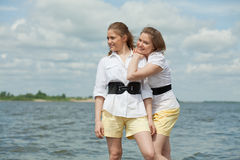 Twins girls Royalty Free Stock Image