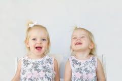 Twins Having Fun. Twins Laughing Having Fun Playing Stock Images