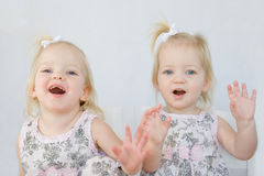 Twins Having Fun Royalty Free Stock Image