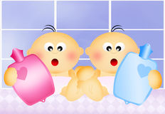 Twins for hot water bag Stock Photo