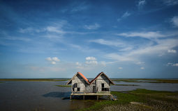 Twins House. The House among beautiful landscape royalty free stock image
