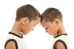 Twins isolated Royalty Free Stock Images
